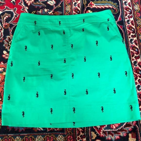 Talbots Dresses & Skirts - Talbots Kelly Green Pencil Skirt Seahorses Size 16
